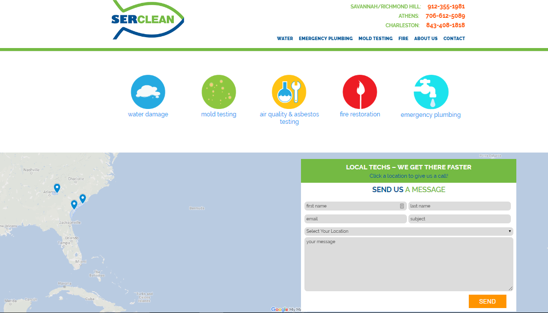 SerClean Savannah Web Design | United WebWorks