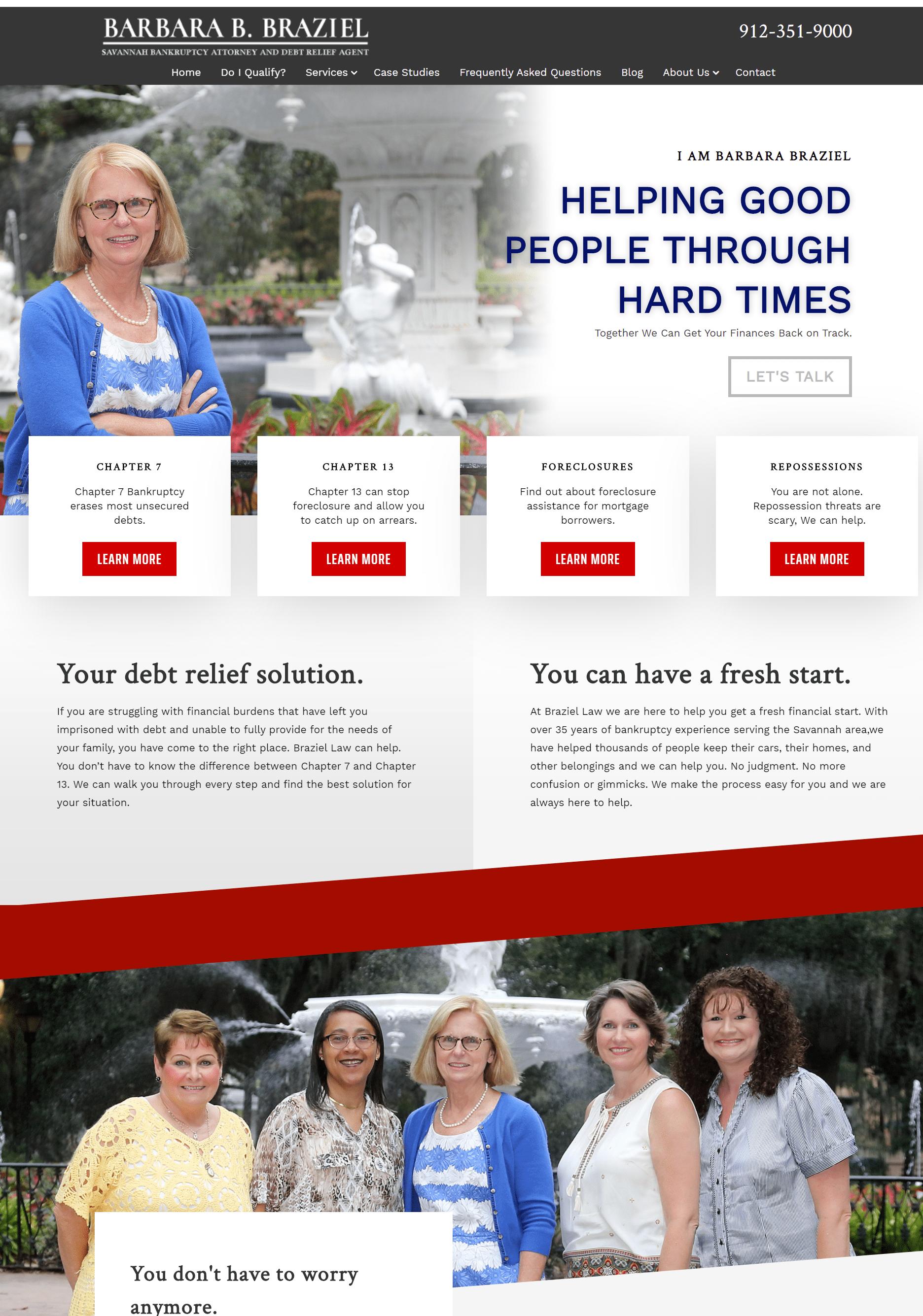 Bankruptcy attorney website